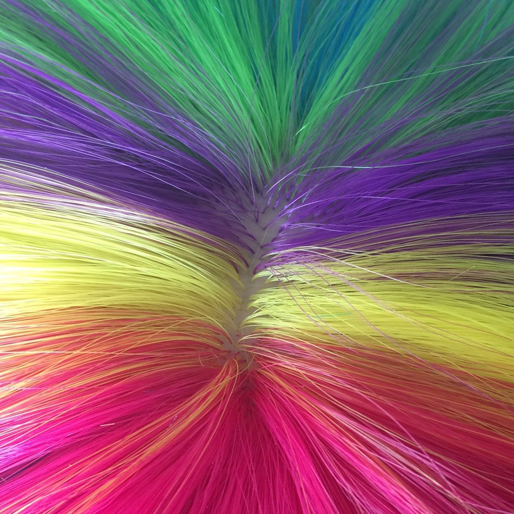 Short Rainbow Wig Cosplay Wigs Heat Resistant Synthetic Fiber BOB Hairpiece , Free Wig Cap by Namecute (Image #8)