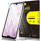 Msova 2枚入り AQUOS R3 ガラスフィルム AQUOS R3 強化ガラス 液晶保護フィルム SH-04L/SHV44 日本のAGC素材を使用 気泡ゼロ 指紋防止高透明度 スムーズ操作 日本語説明書