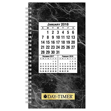 Day-Timer Refill 2018, Two Page Per Day, January 2018 - December 2018, 3-1/2