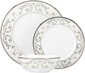 Lenox Opal Innocence Silver 3-Piece Place Setting, White