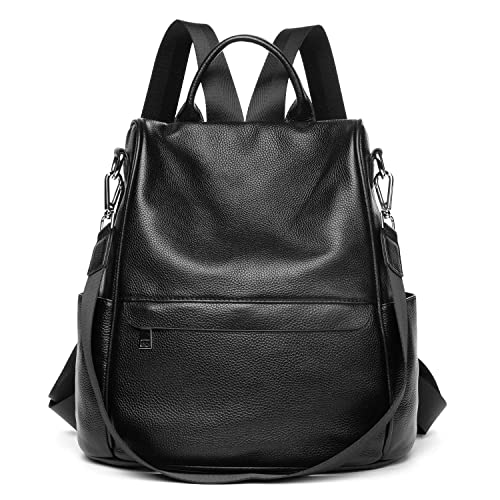 a47178d0a8d0 Genuine Leather Backpack Women Shoulder Bag Travel Casual Purse Anti Theft  Waterproof