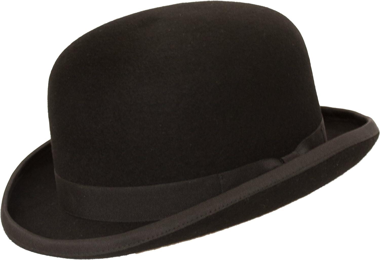 Levine Fleming Firm Felt Derby Bowler Hat 100/% Wool 3+ Colors