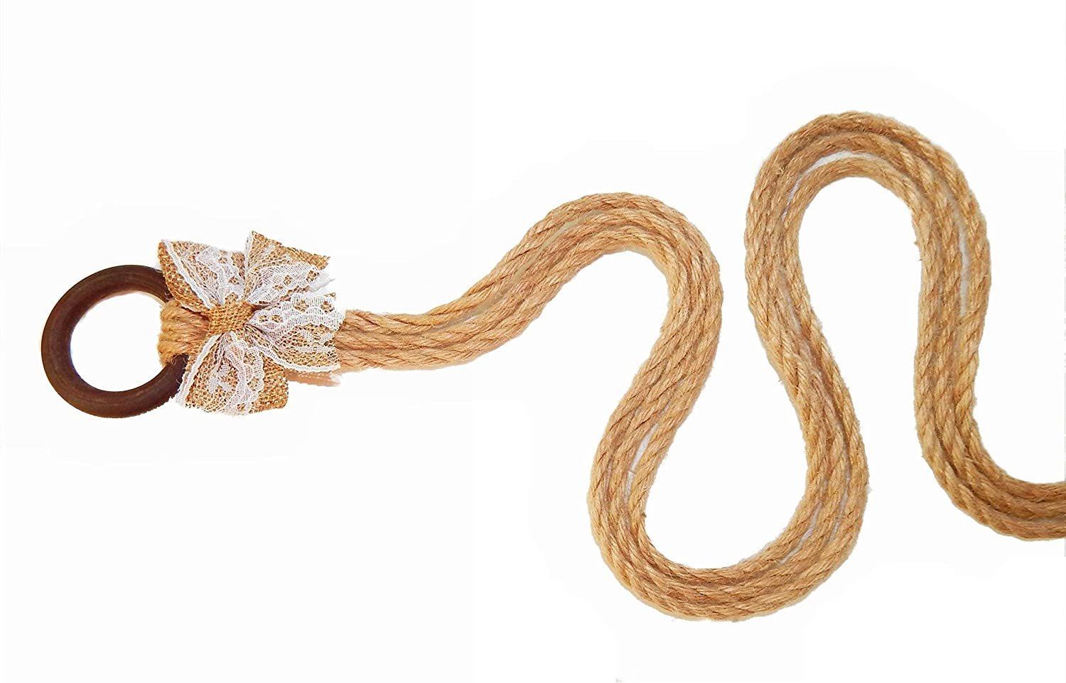 A Cord of Three Strands Gods Wedding Knots 5 mm thick Jute Rope
