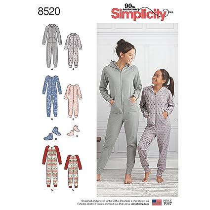 393ebe2ea7 Buy Simplicity Patterns Creative Patterns Us8520A Sewing Pattern Sleepwear