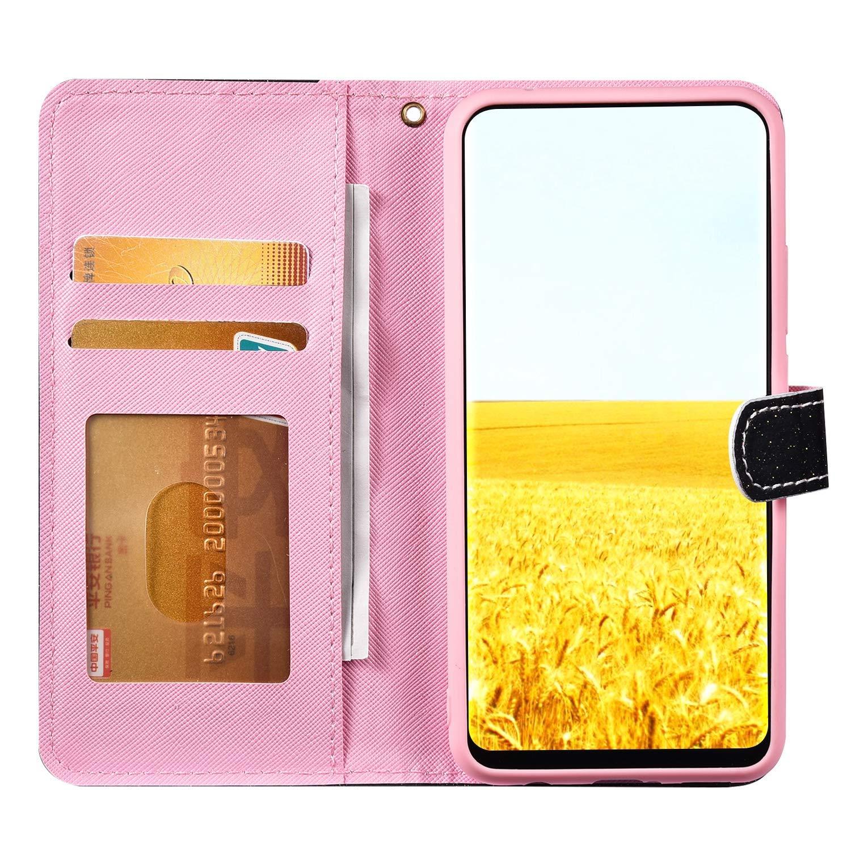 JAWSEU Compatible avec Samsung Galaxy A5//A8 2018 Coque Portefeuille PU /Étui Cuir /à Rabat Glitter Paillette Brillante Homme Femme Magn/étique Stand Slim Leather PU Flip Wallet Case,Rouge
