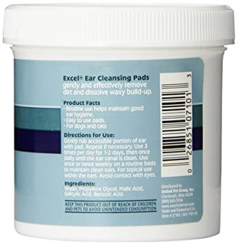 Excel Ear Cleansing Pads 90 Pads - Pack of 4 Clubman Pinaud Styptic Pencil Travel Size .33 oz (pack of 3)