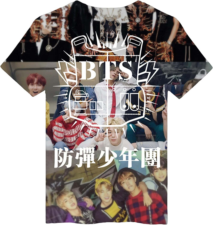 JUNG KOOK KPOP BTS - Camiseta de Manga Corta con impresión 3D para Suga J-Hope Jimin JIN V