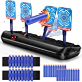Hot Bee Electric Shooting Digital Targets for Nerf Guns, Scoring Auto Reset Target Game with 20 Pcs Darts & 2 Hand Wrist…
