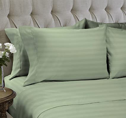 0ff35ac0ed Snuggle Sheet Sets Ultra Soft Double Brush Microfiber Striped Bedding 1800  Collection - Wrinkle, Fade