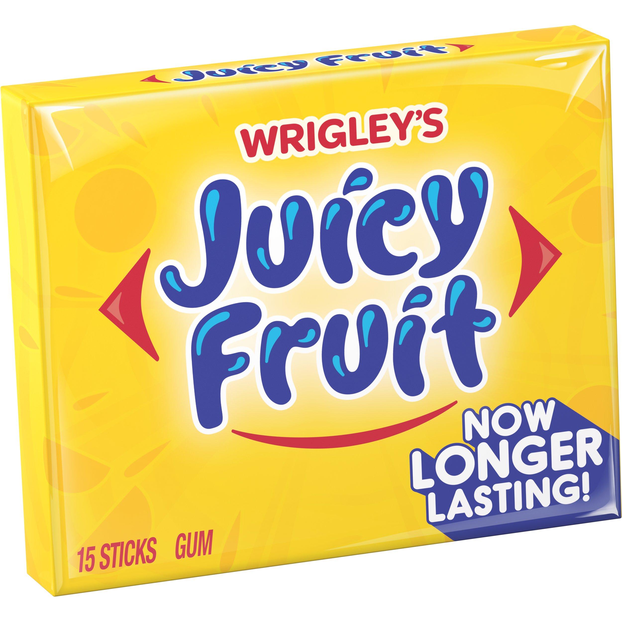 Juicy Fruit Original Chewing Gum, 15 piece pack (20 Packs)