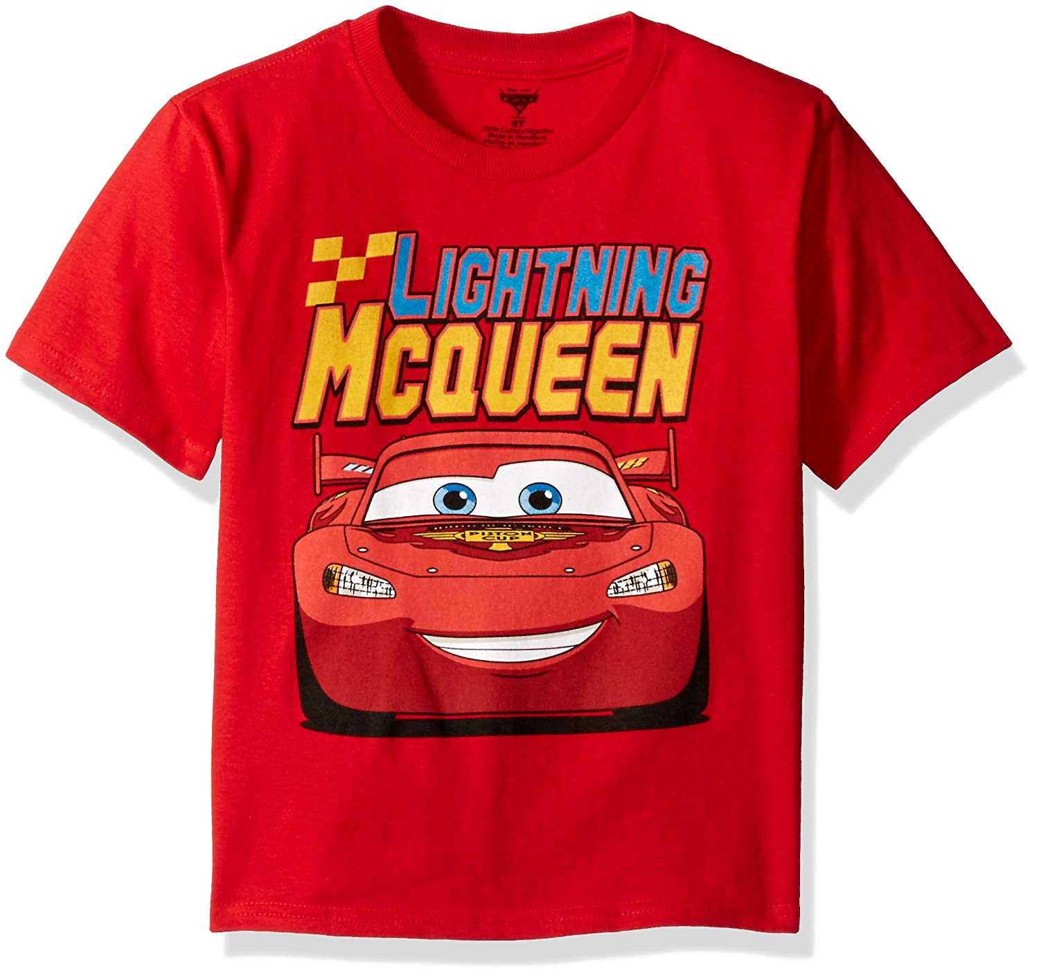Disney Boys' Cars Lightning McQueen T-Shirt CZKB261-02T