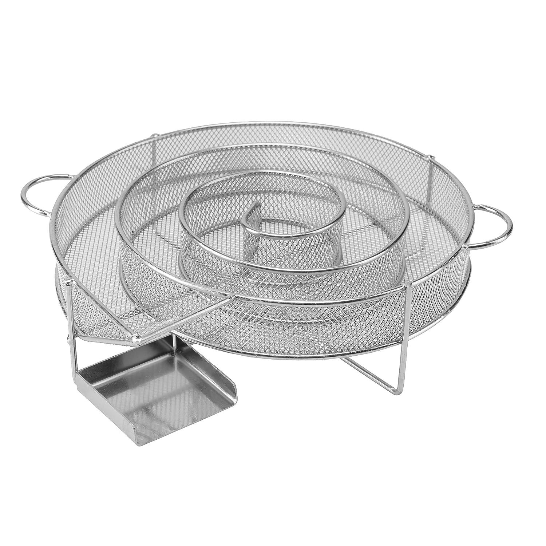 Barbecue riijk Sparbrand D/étecteur de fum/ée en Acier Inoxydable fumoir 4eckig argent/é Produit Professionnel pour Fumage au fumoir