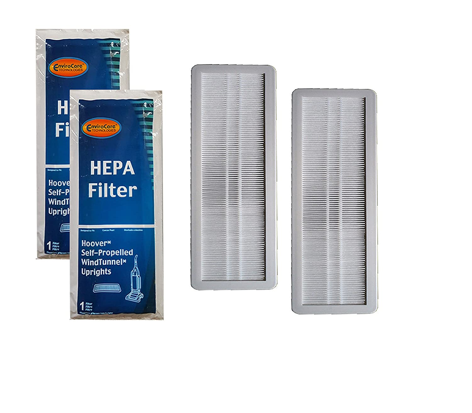 Final Filter for Hoover Windtunnel Pleated HEPA w/activated Charcoal Vacuum Filter, Upright, Self propelled Vacuum Cleaners EnviroCare 40120101