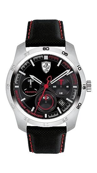 Scuderia Ferrari Reloj Cronógrafo para Hombre de Cuarzo con Correa en Cuero 830444: Ferrari: Amazon.es: Relojes