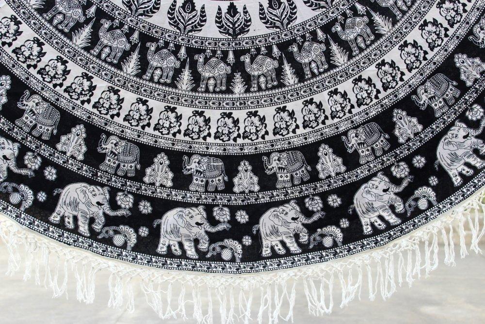 Amazon.com: Ronda Mandala Tassel elefante playa manta ...