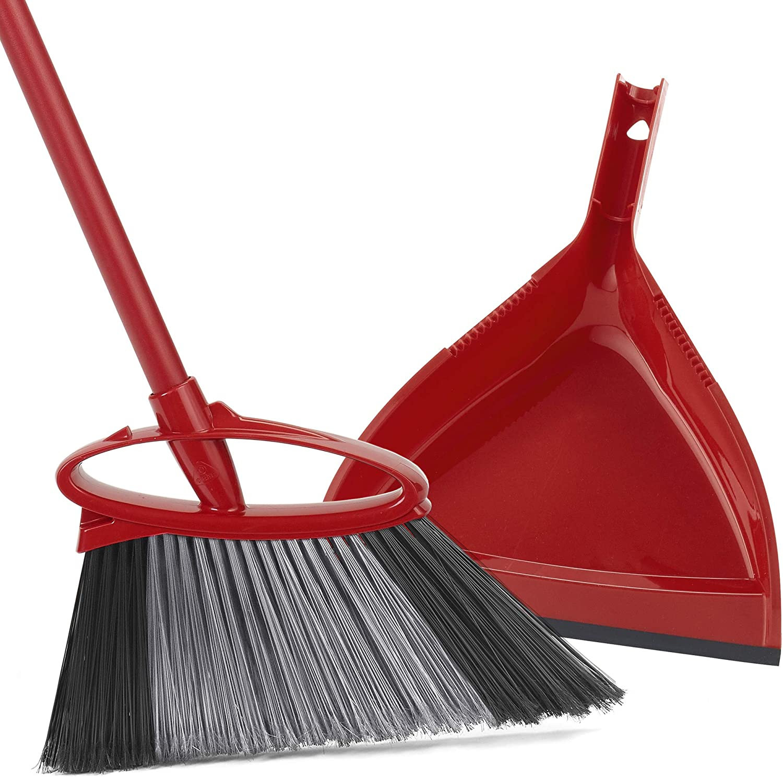 O-Cedar PowerCorner Angle Broom with Dustpan: Home & Kitchen