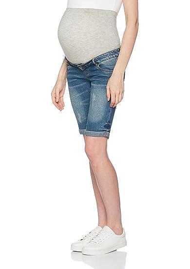 8fa0899034bd Mamalicious Women's MLSCRATCH Pocket Bermuda Maternity Jeans, Medium ...