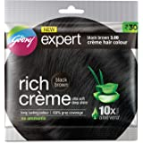 Godrej Rich Creme Hair Colour - Black Brown No. 3,with Alovera 20g+20ml