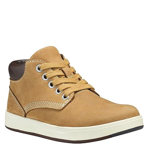 fea89e6394e0db Timberland Davis Square Leather Chukka, Stivali Unisex-Bambini, Giallo  (Wheat),