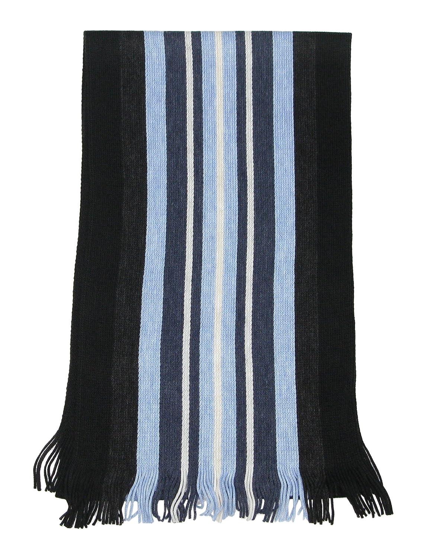 c8cfa5d9a7e LOVARZI Bleu Foulard rayée hommes - Echarpe pour hommes - Echarpe rayures  homme - Foulards d hiver  Amazon.fr  Vêtements et accessoires