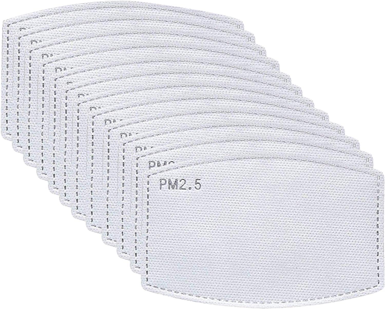 PM2.5 Activated Carbon Filter Atrest Adult PM2.5 Activated Carbon Filter 5 Layers Replaceable Filter Paper 20PCS