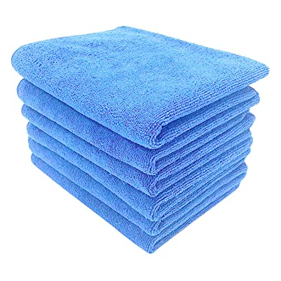 "UTowels Professional Grade Premium Sky Blue Microfiber Towels 6 Pieces 16"" x 27"" 400 GSM for All House Cleaning, Car Cleaning, and Others (6): Automotive"