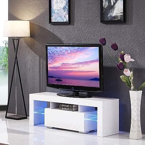 Cocoarm Mobile Porta TV Moderno in Legno Bianco con LED e ...