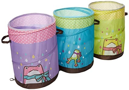 Set of 3 Pop-up H&er Storage Bin / Basket / Container - Mr.  sc 1 st  Amazon.com & Amazon.com: Set of 3 Pop-up Hamper Storage Bin / Basket / Container ...