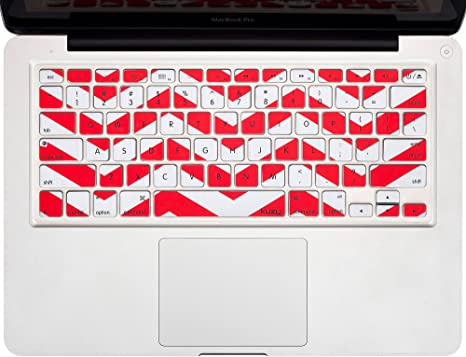 """LCD for Macbook Pro 15/"""" Retina A1398 Matte Chevron RED Case Keyboard Cover"""