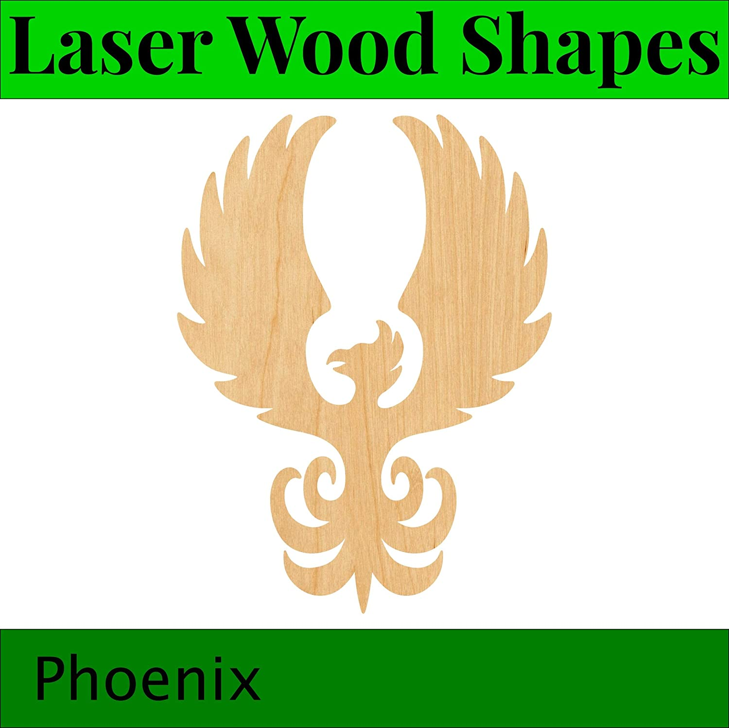 Phoenix Laser Cut Out Wood Shape Craft Supply Woodcraft Cutout