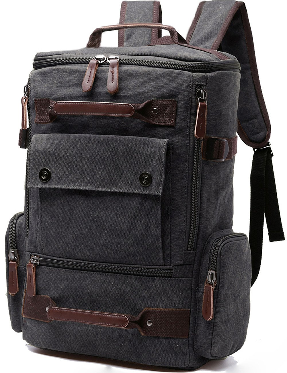 e67a50fe4ff7 Canvas Backpack, Aidonger Vintage Canvas School Backpack Hiking Travel  Rucksack Fits 15'' Laptop (Army Green)
