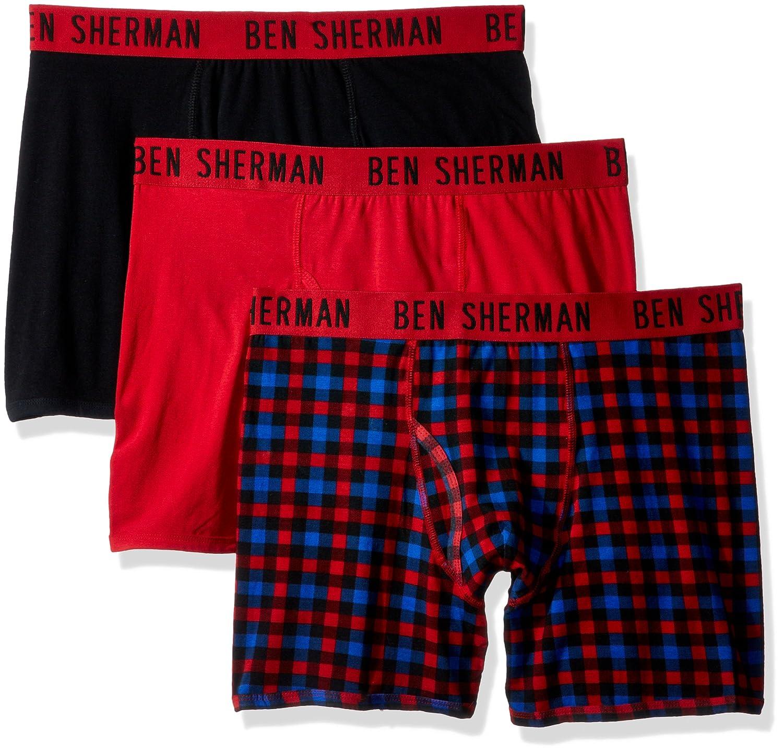 Ben Sherman Mens Standard 3 Pack Boxer Brief - Bsm1102us