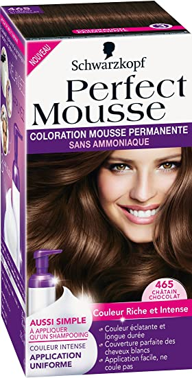 schwarzkopf perfect mousse coloration permanente chtain chocolat 465 - Prix Coloration Schwarzkopf