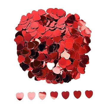 Toll Herz Konfetti Metallisch Folie Herzen Konfetti Glitzer Herzen Pailletten Für  Valentinstag Hochzeit Party Tisch Dekorationen,