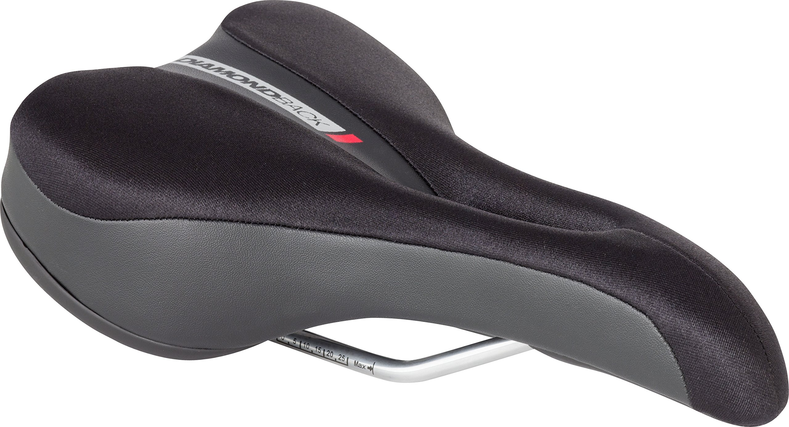 Diamondback Men's Hybrid Lycra Top Bicycle Saddle, Black