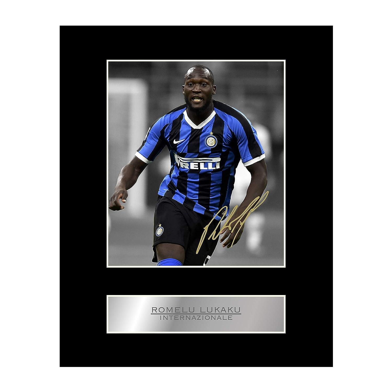 stampa con autografo Foto autografata di Romelu Lukaku Internazionale #01