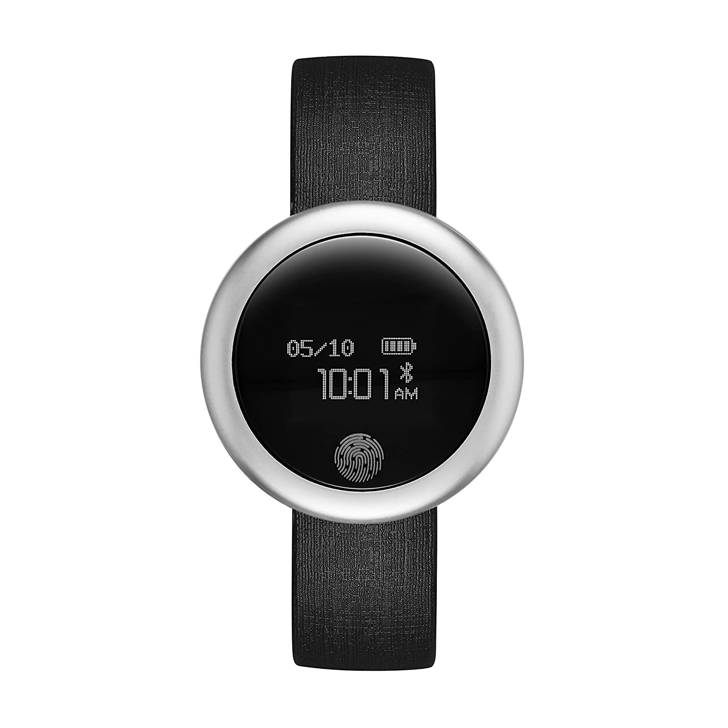 eMotion Unisex Metal and Rubber Smartwatch
