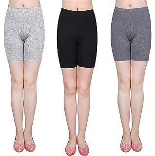 6b47743d0207fd IRELIA 3 Pack Modal Girls Bike Shorts Solid Underwear for School Size 6-16