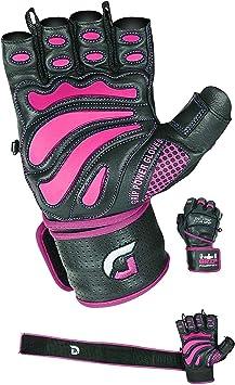 M Purple Fitness Gloves Women Gym Crossfit Bodybuilding Wrist Wrap Sports Gloves