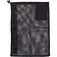 Mesh Tag Bag with Strap Black 15X22