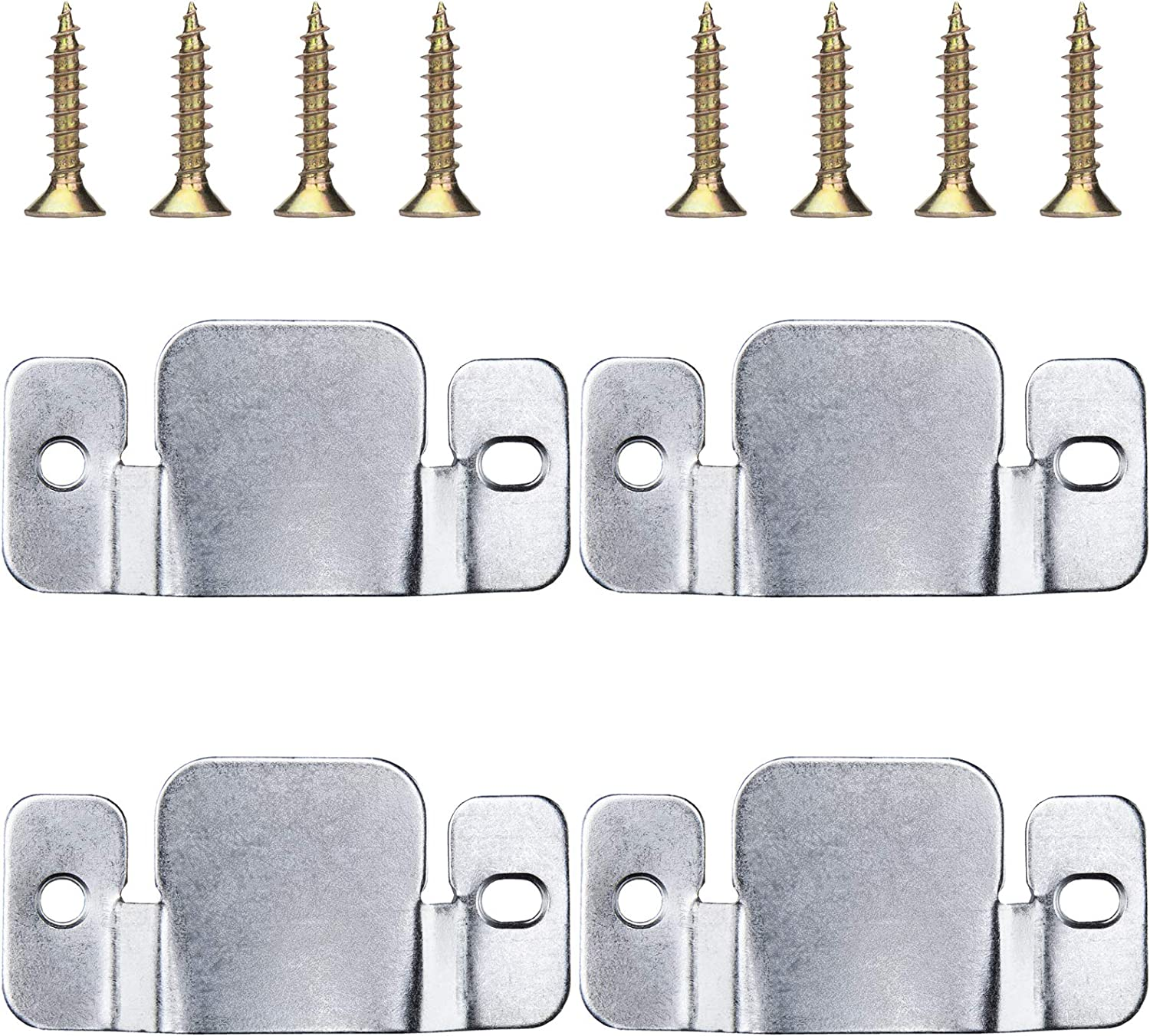 FATLODA 4PCS Sectional Couch Connectors, Upgrade Metal Sofa Sectional Connectors Bracket, Universal Sectional Couch Clips for Loveseat, Chair or Chaise Lounge (with 8PCS Screws)