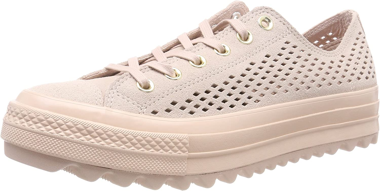 Converse CTAS Lift Ripple Ox Particle Beige, Zapatillas para Mujer