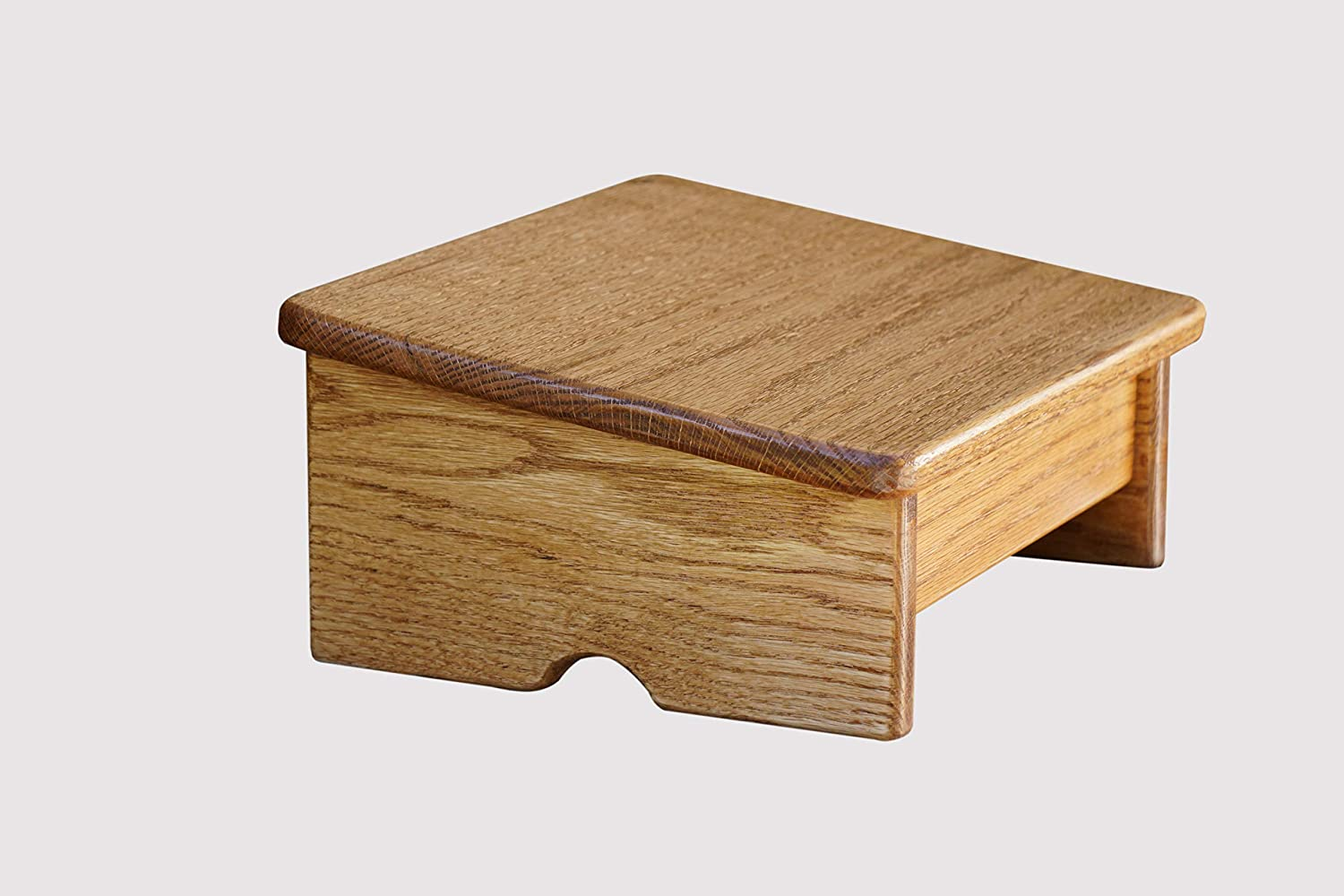 Standard Guitar Foot Stool Made in the USA Oak- Clear