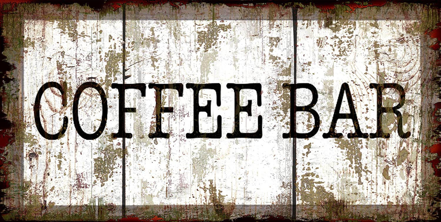 Original Vintage Design, Coffee Tin Metal Wall Art Print Poster, Thick Tinplate Wall Decoration Signs for Coffee Corner/Cafe