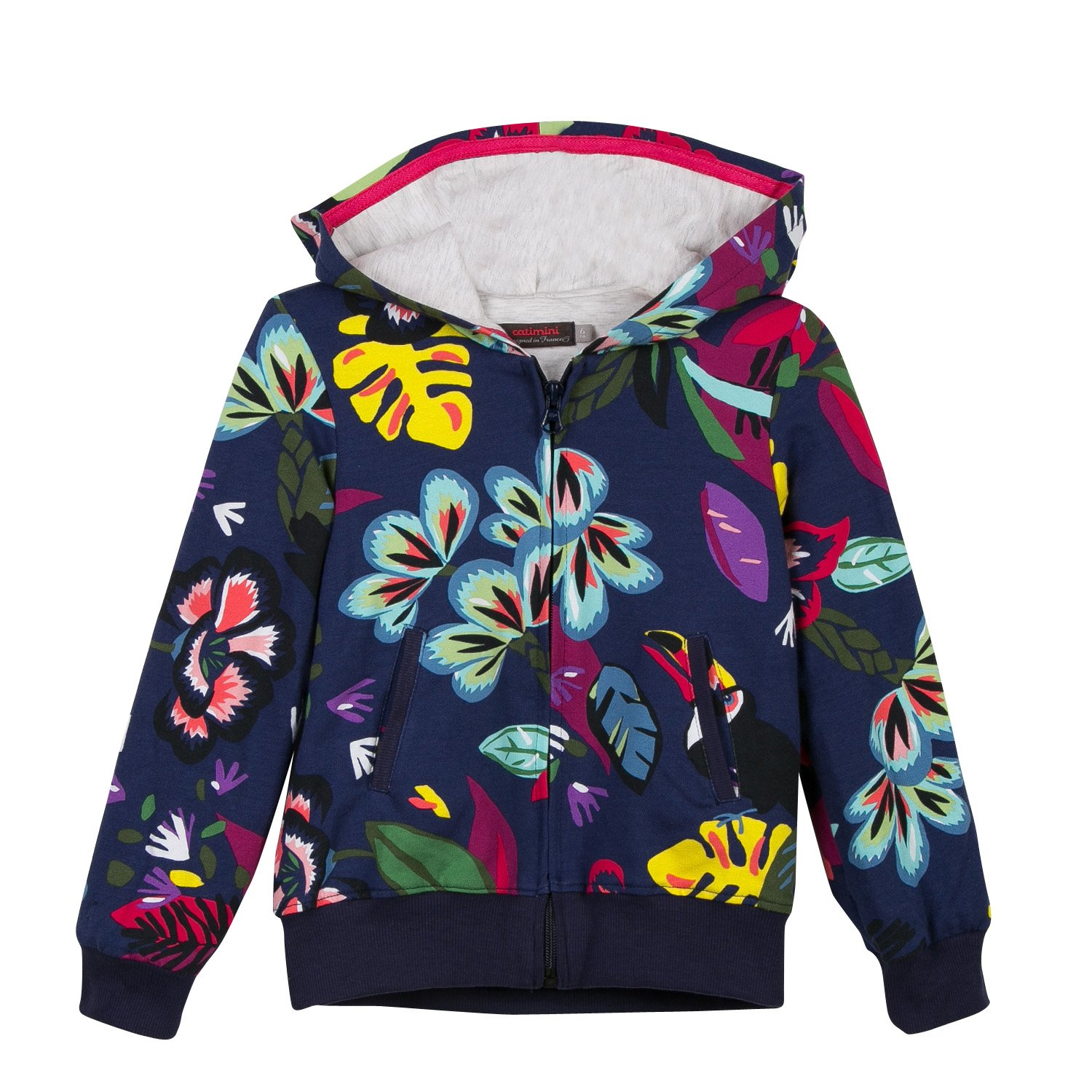 Catimini Girl's Cardi Molleton Cardigan Multicolour (Imprimé 88) 4 Years (Size: 4A) CL17035