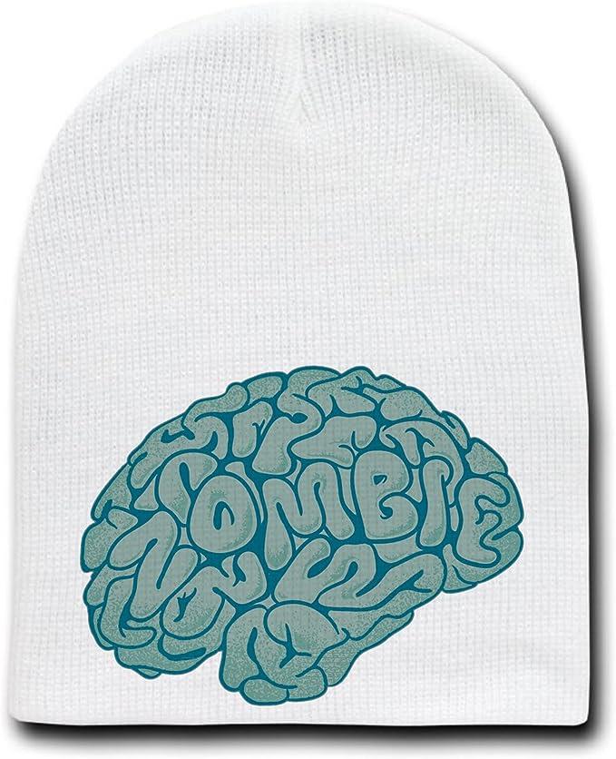 White brain beanie