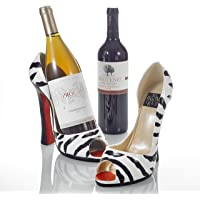"Pure.Lifestyle 2-pieces 8.5"" Porcelain High Heel Shoe Wine Bottle Holder Kitchen Table Décor Home Interior Decorations Wine Rack"