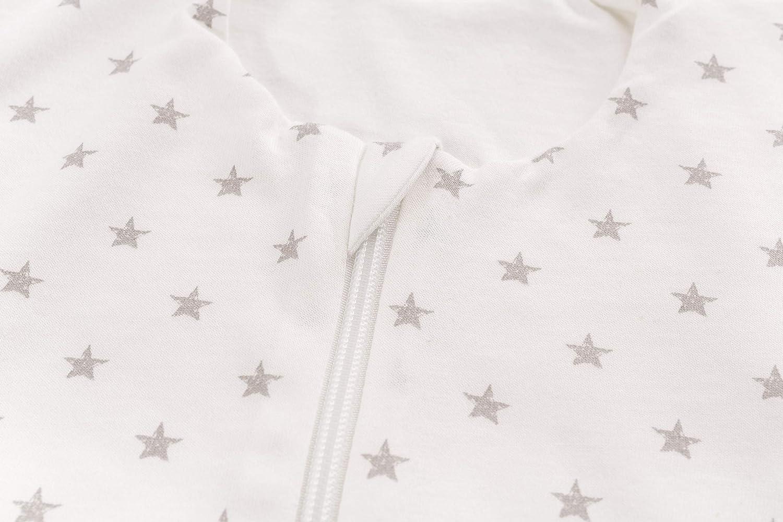 in cotone Tr/äumeland S0200102 Sacco nanna estivo Liebmic colore: Bianco motivo stelline 60 cm