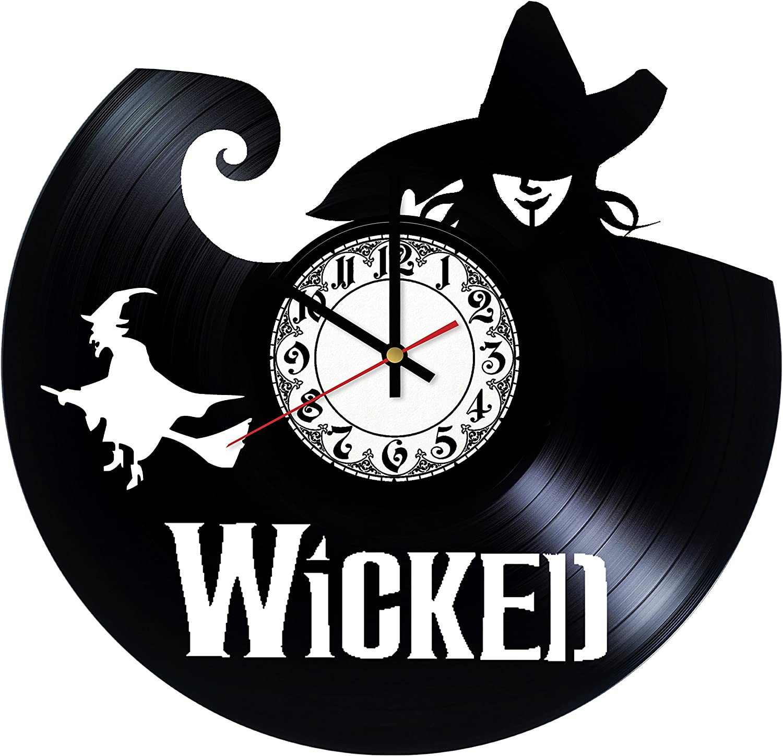 In Na Wicked Broadway Musical Vinyl Clock, Vinyl Wall Clock, Vinyl Record Clock, Original Gift, Home Decor, Wall Art
