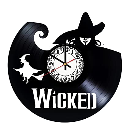 Wicked Broadway Musical Vinyl Wall Clock Unique Home Decor That Will Suit To Any Interior